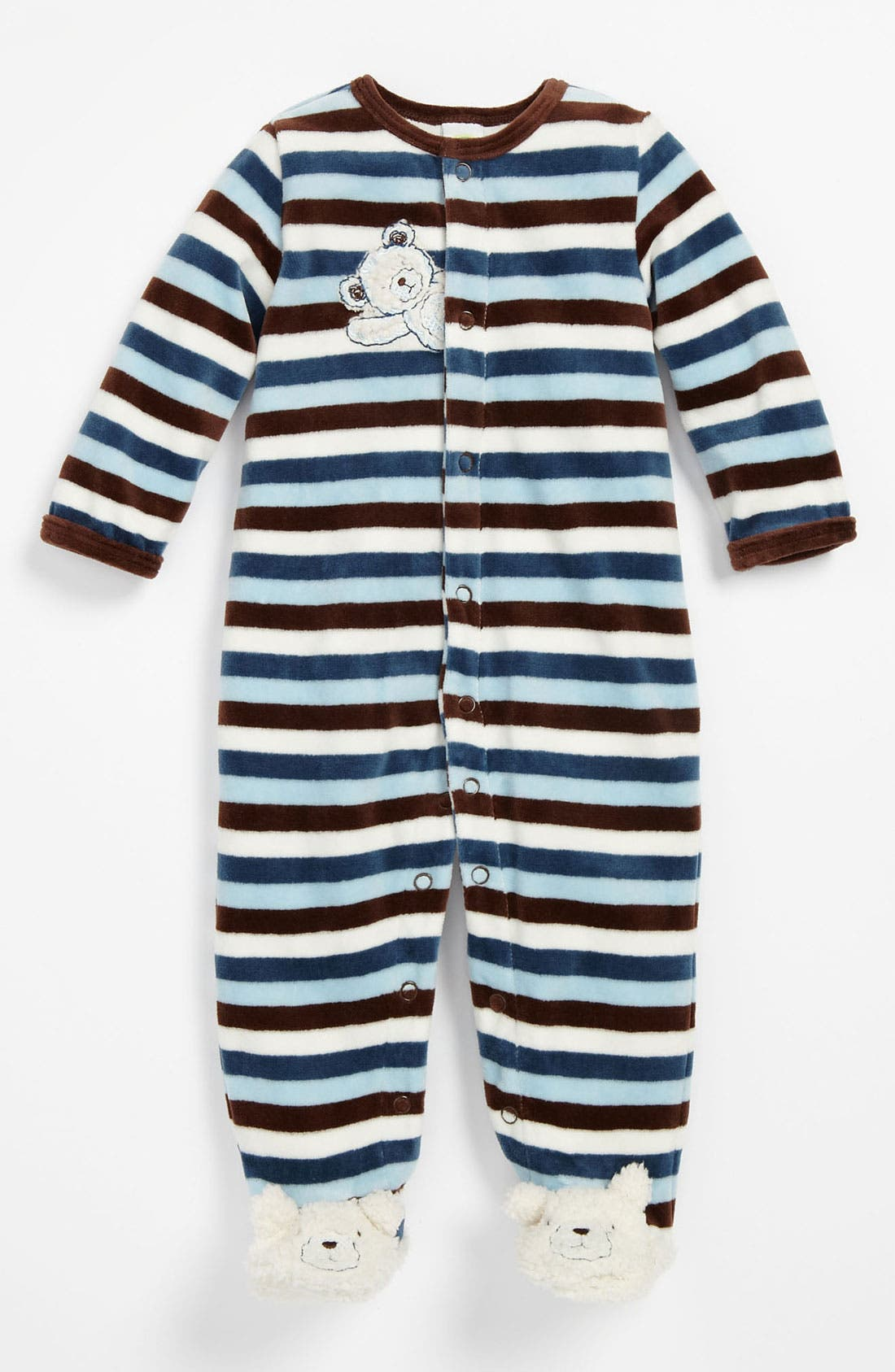 Main Image - Little Me Velour Footie (Infant)