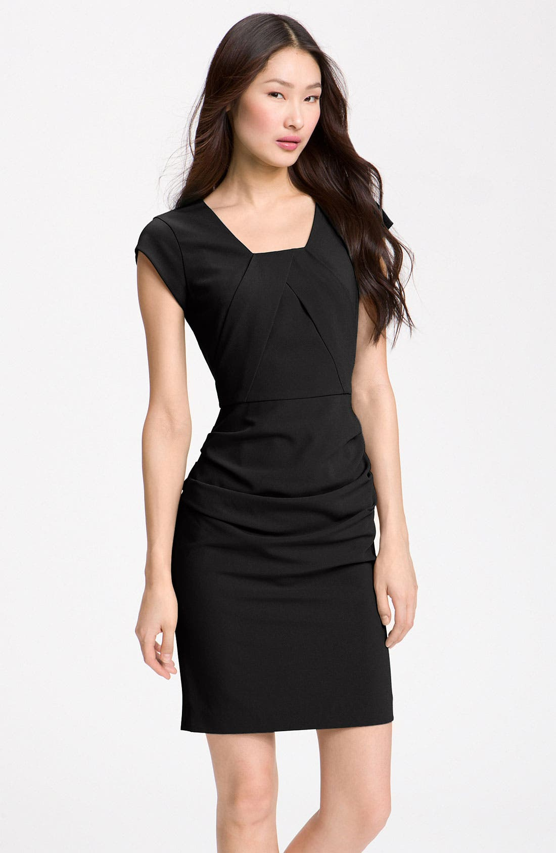 Alternate Image 1 Selected - BCBGMAXAZRIA Cap Sleeve Sheath Dress