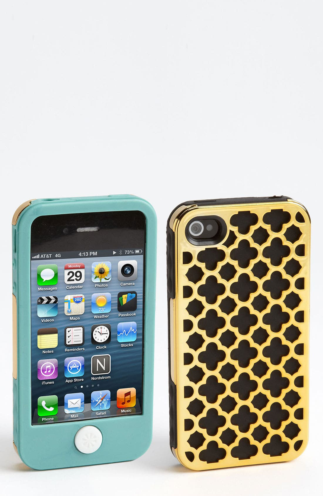 Alternate Image 1 Selected - Tech Candy 'Barcelona Metallic' iPhone 4 & 4S Case