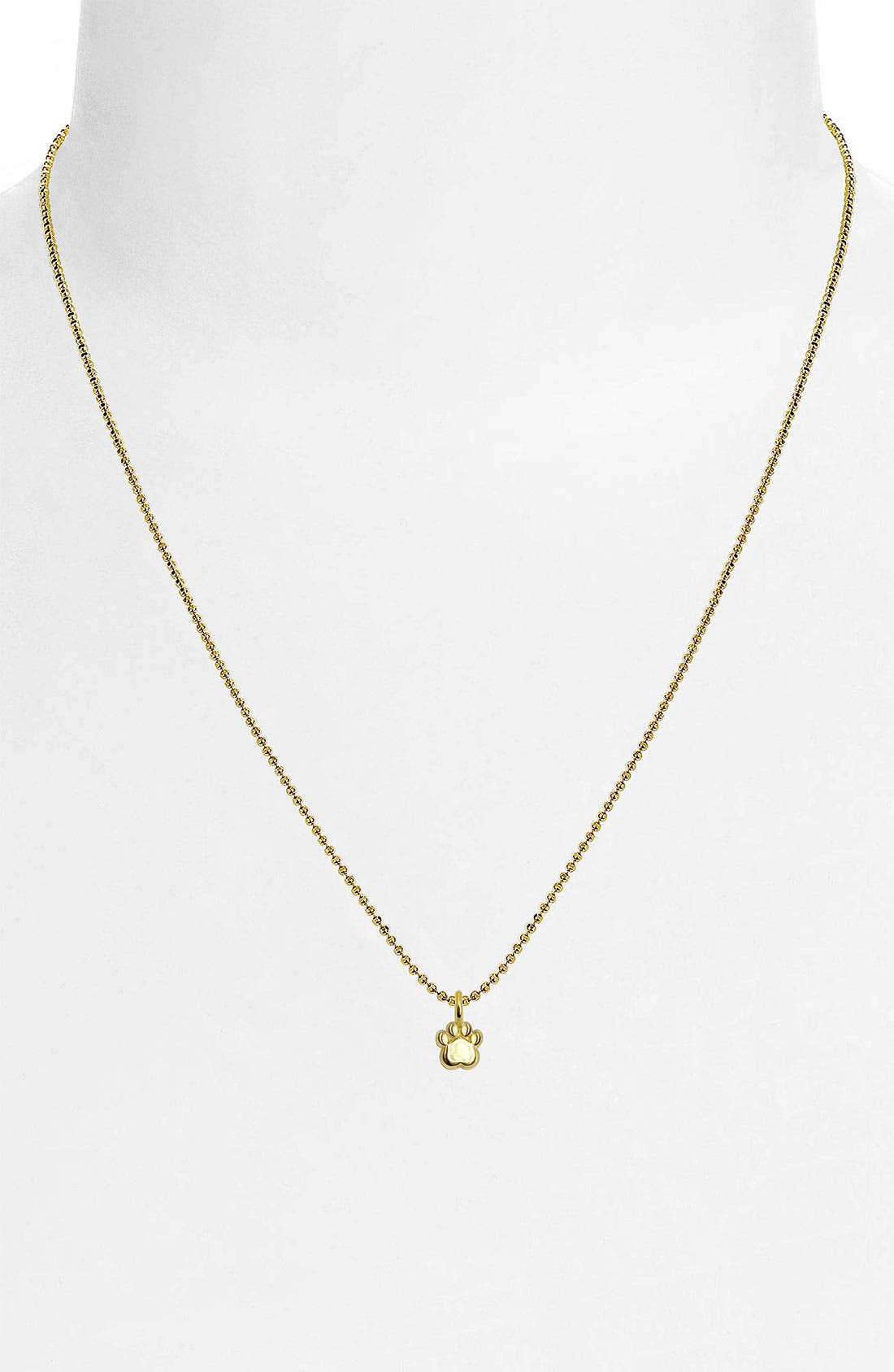 Alternate Image 2  - Alex Woo 'Mini Paw' 14k Gold Pendant Necklace