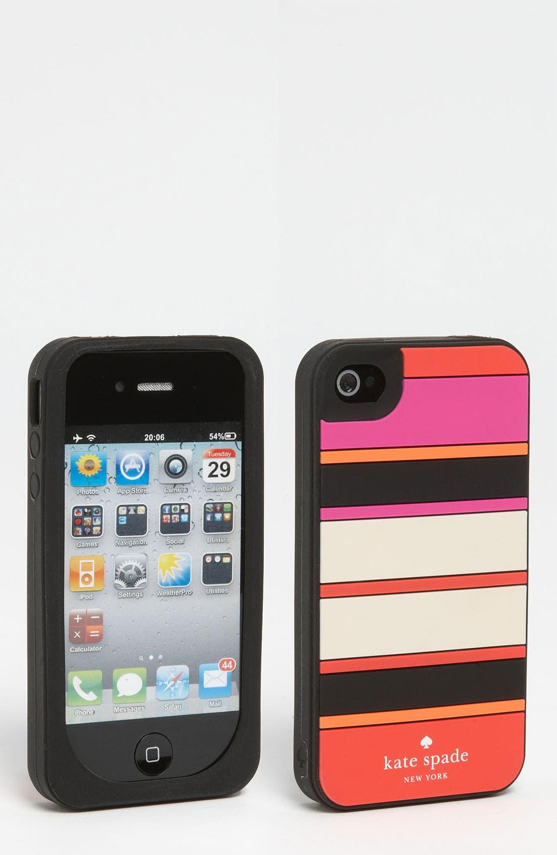 Main Image - kate spade new york 'kaleidoscope stripe' iPhone 4 & 4S case