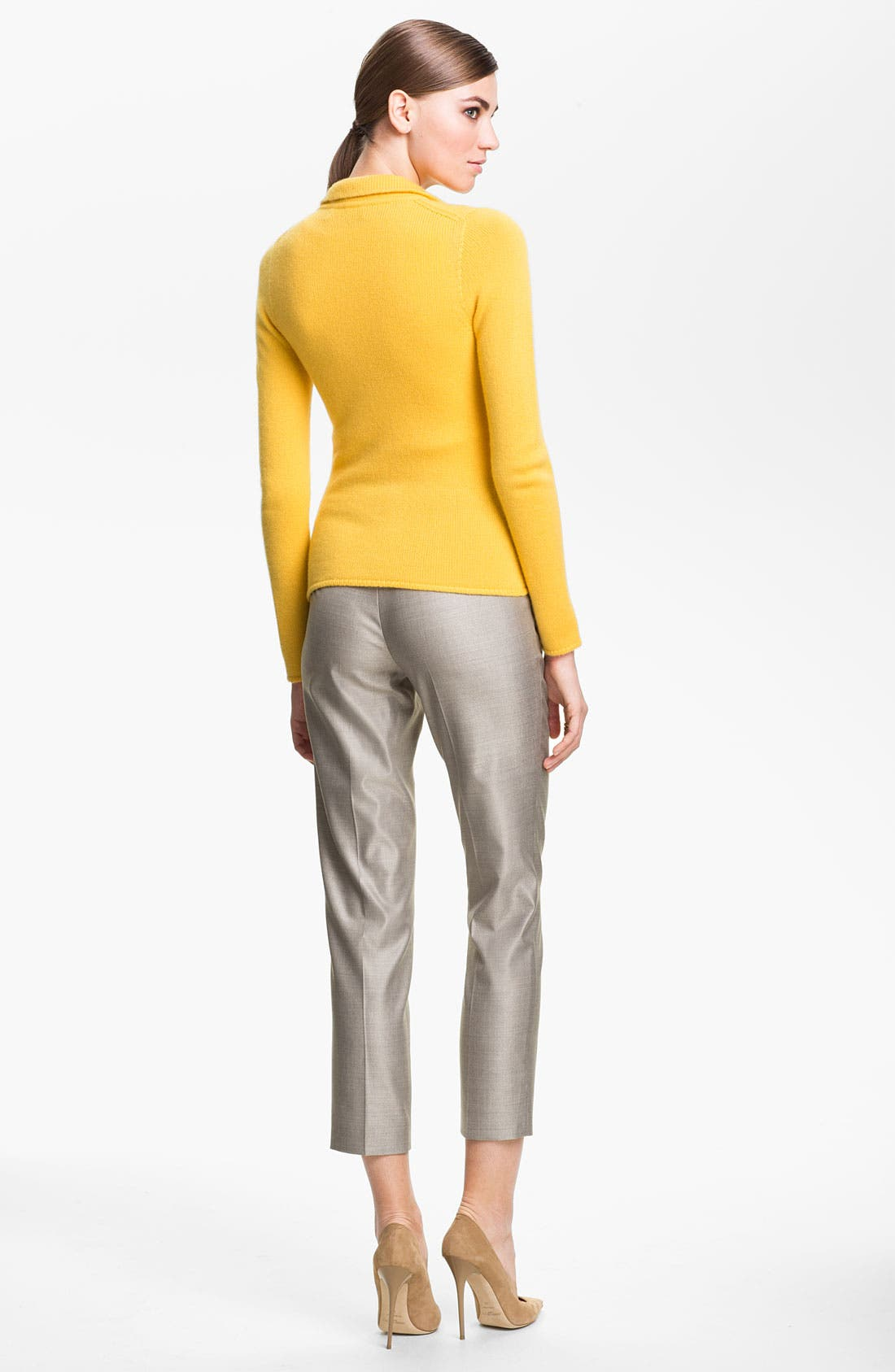 Alternate Image 3  - St. John Collection Fitted Cashmere Knit Jacket