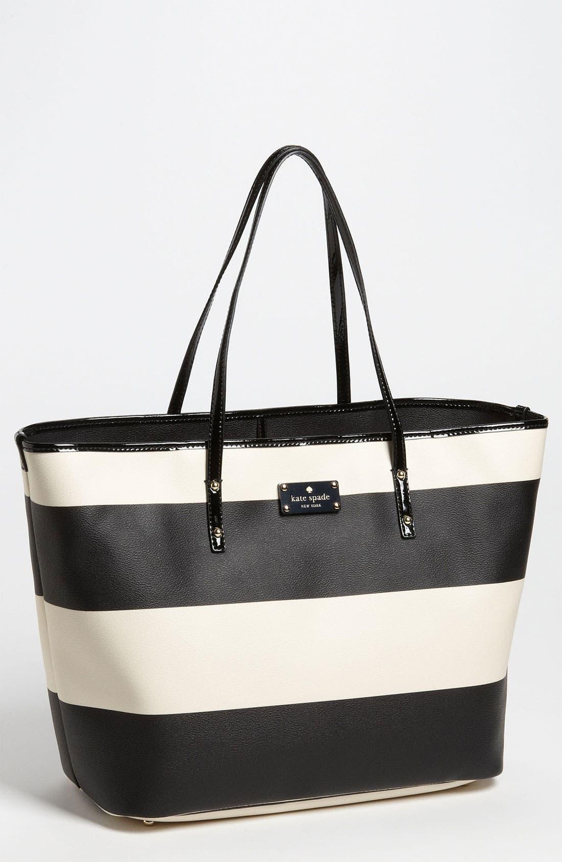 Main Image - kate spade new york 'boutique stripe - harmony' tote