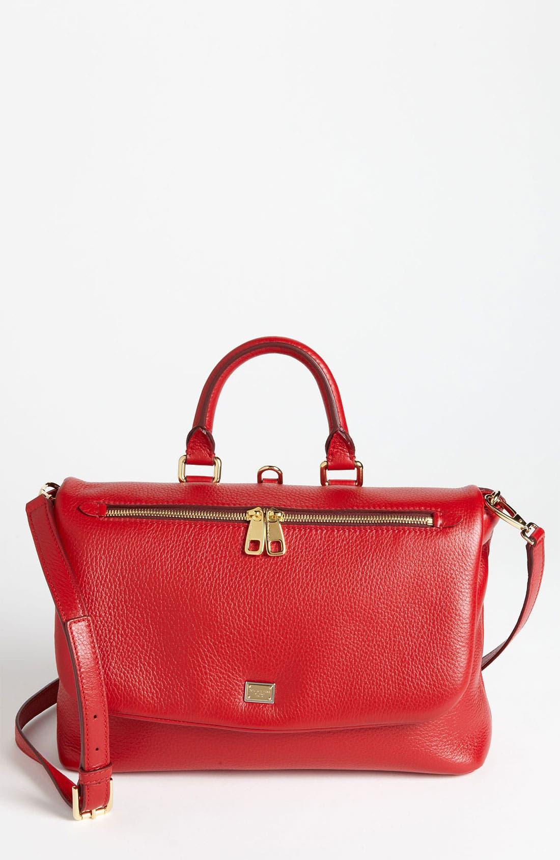 Main Image - Dolce&Gabbana 'Miss Emma' Leather Satchel