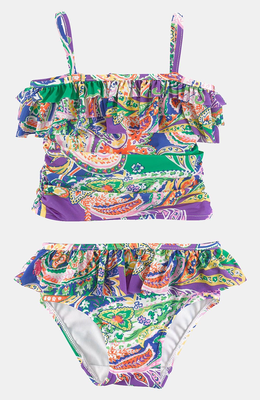 Main Image - Ralph Lauren Two Piece Swimsuit (Infant)