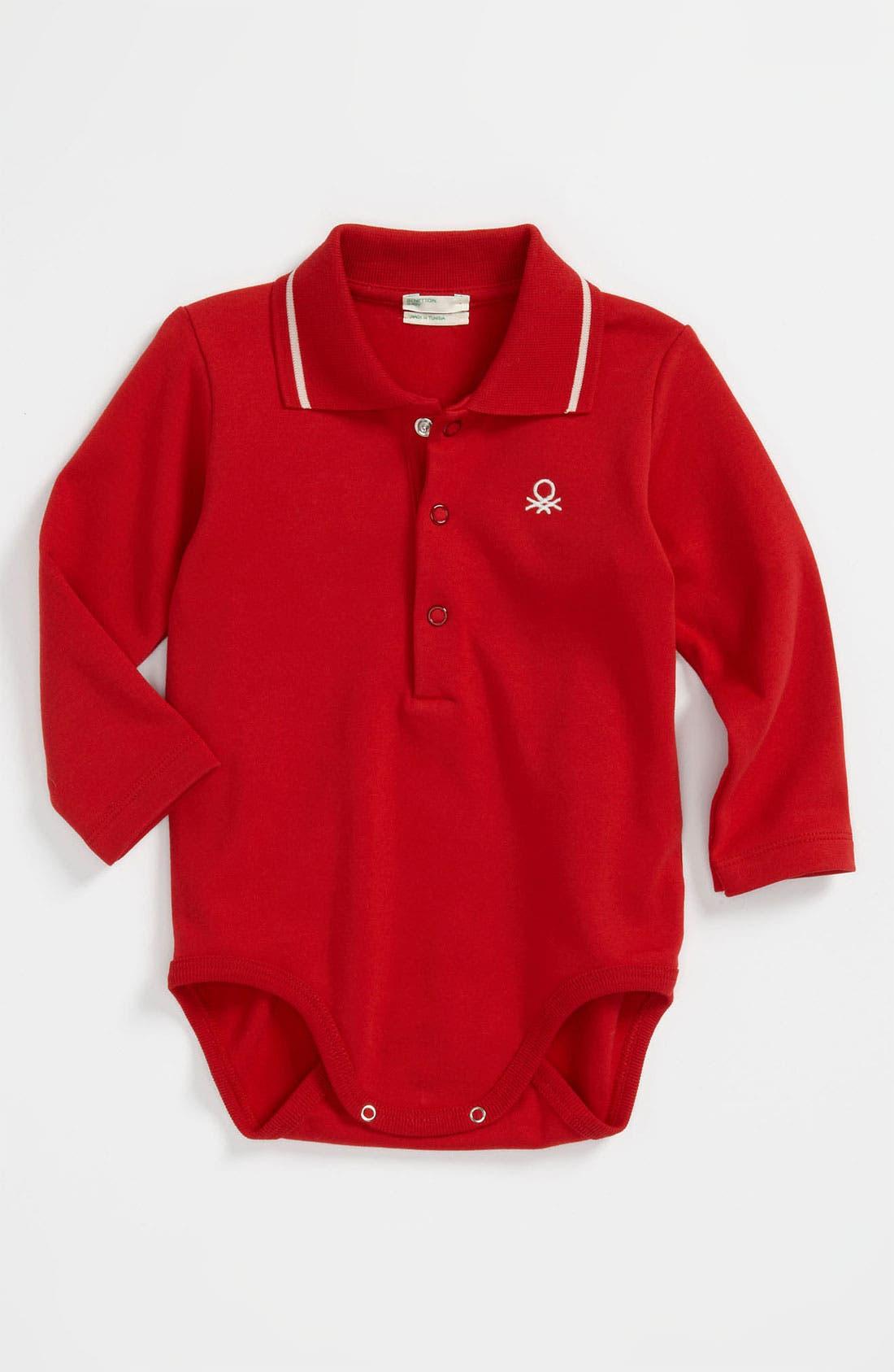 Alternate Image 1 Selected - United Colors of Benetton Kids Polo Bodysuit (Infant)