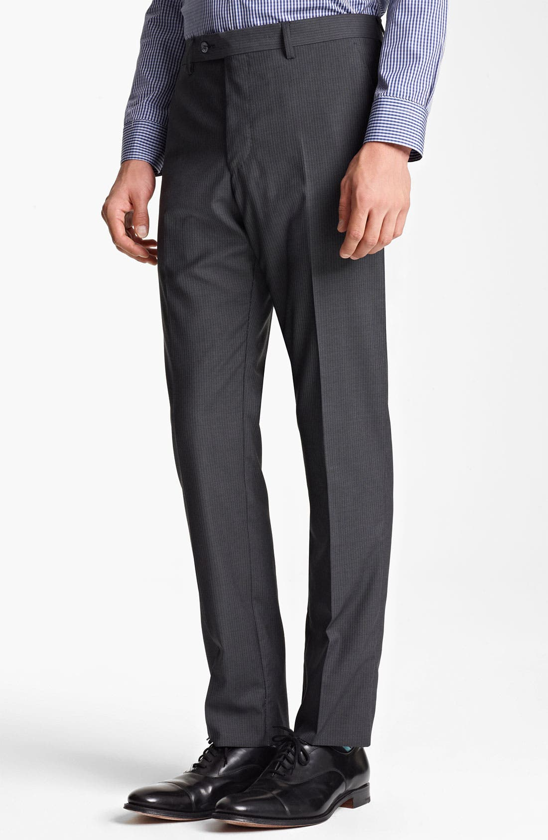 Alternate Image 4  - Paul Smith London Slim Fit Chalk Stripe Wool Suit