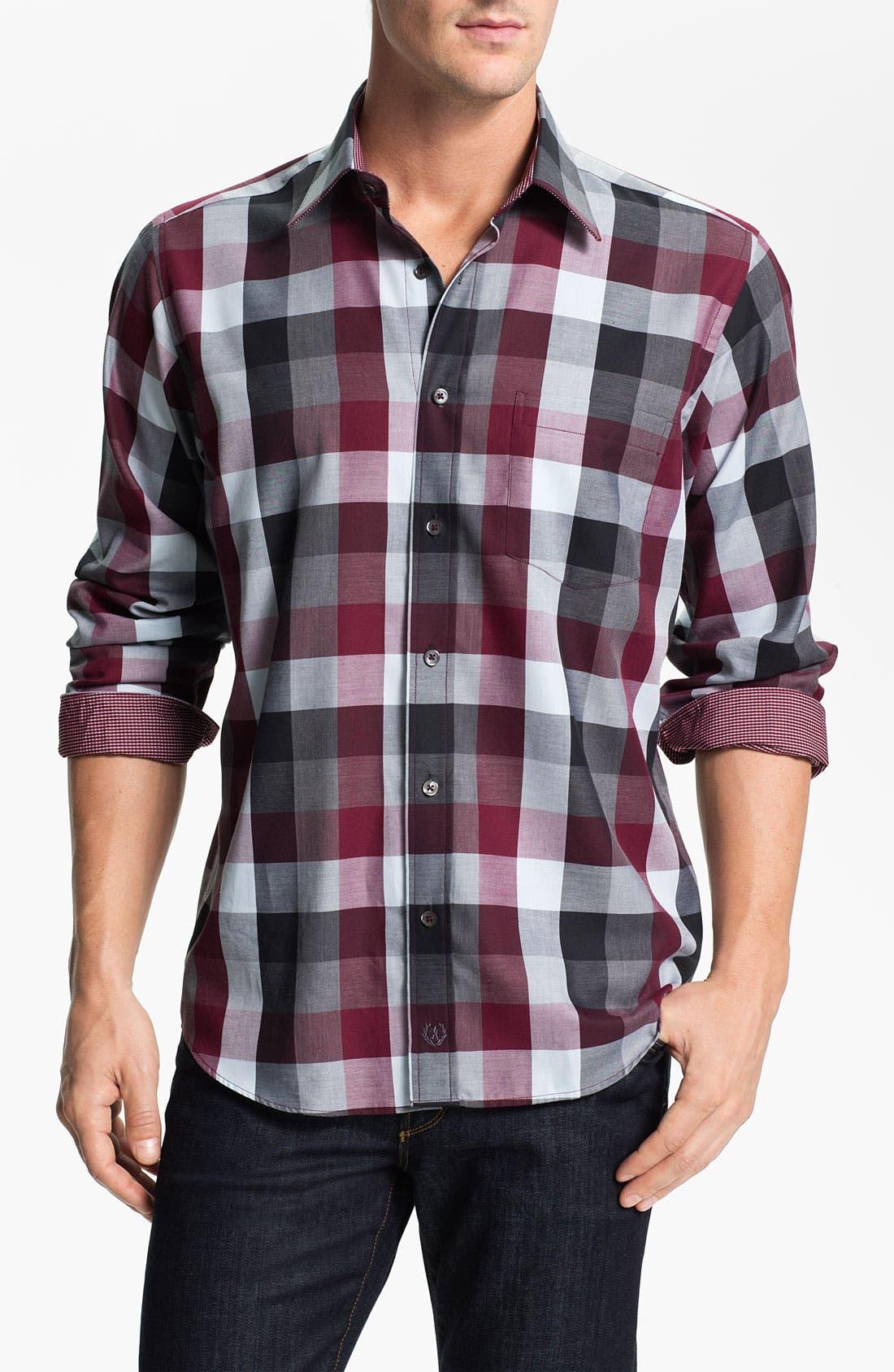 Alternate Image 1 Selected - Bugatchi Uomo Regular Fit Sport Shirt
