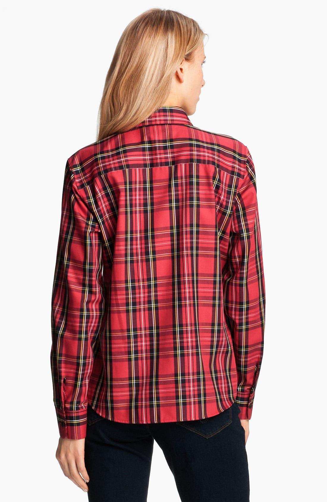 Alternate Image 2  - Foxcroft 'Classic Tartan' Shirt (Petite)