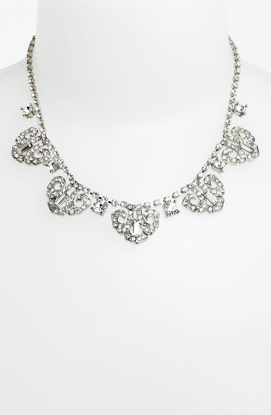 Main Image - Nina 'Mulberry' Crystal Frontal Necklace
