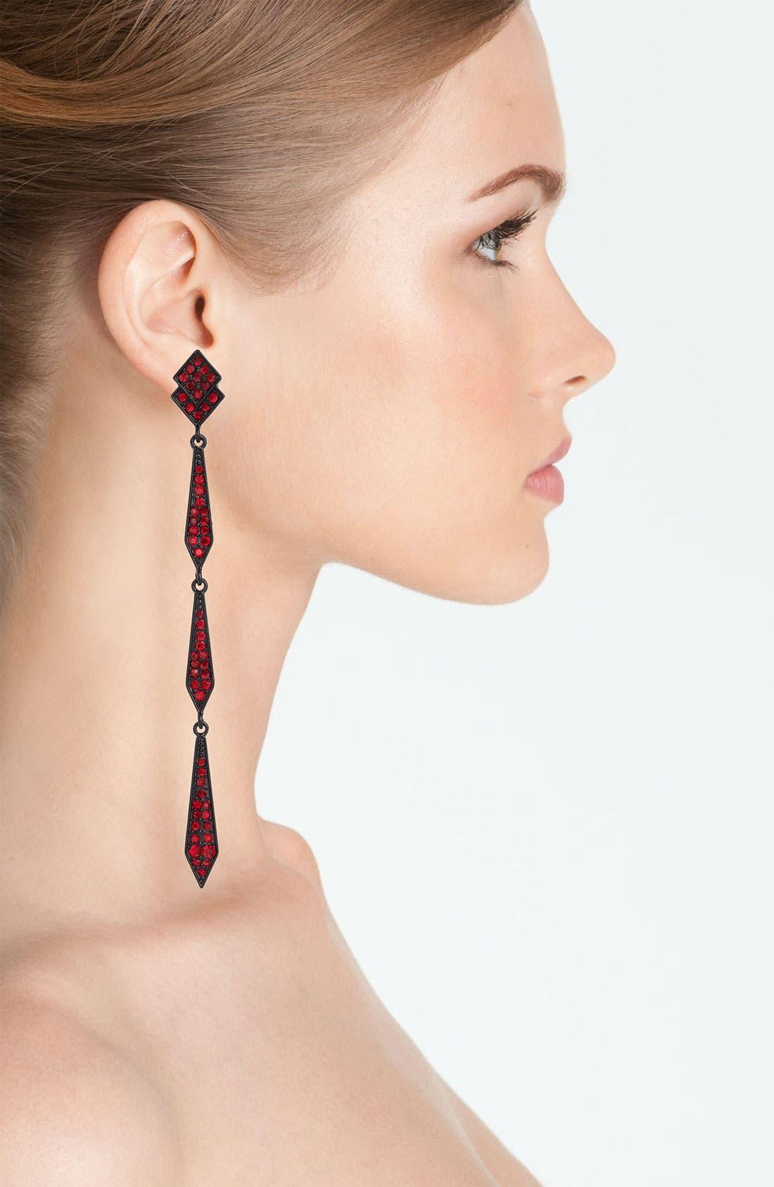 Alternate Image 2  - Spring Street Design Group Pavé Earrings