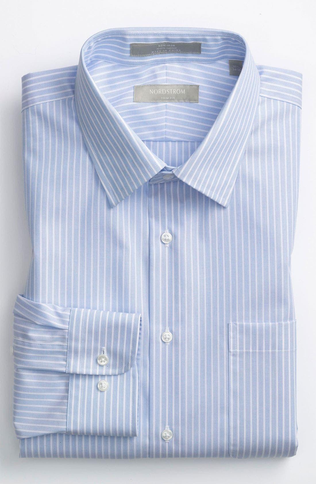 Main Image - Nordstrom Trim Fit Non-Iron Dress Shirt (Online Exclusive)