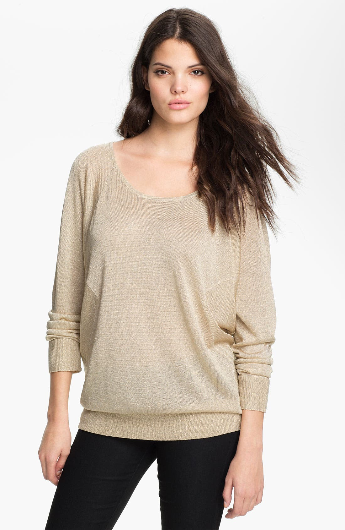 Alternate Image 1 Selected - Haute Hippie Metallic Sweatshirt