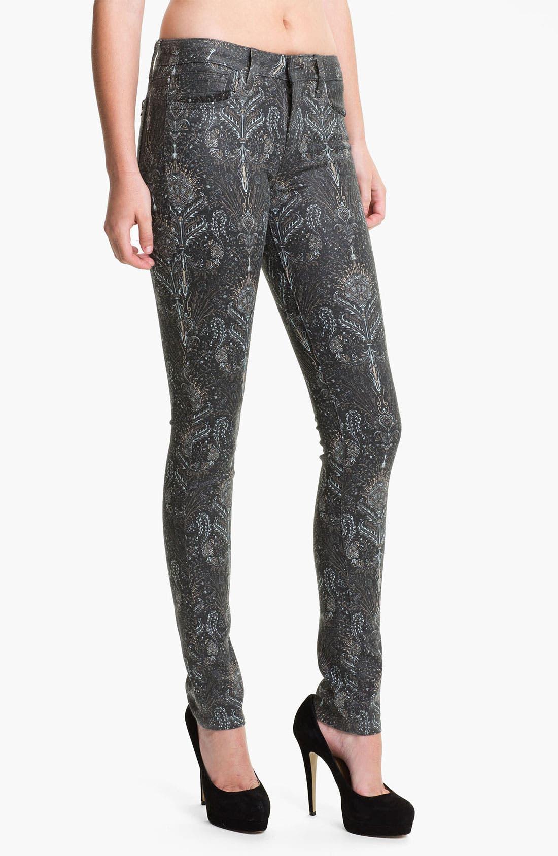 Alternate Image 1 Selected - Joe's Skinny Coated Jeans (Black Baroque)