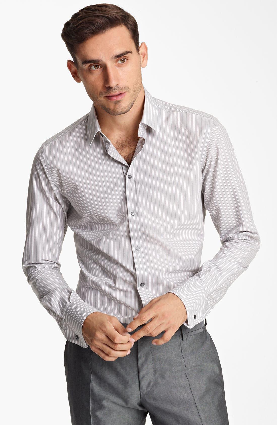 Alternate Image 1 Selected - Dolce&Gabbana Stripe Dress Shirt