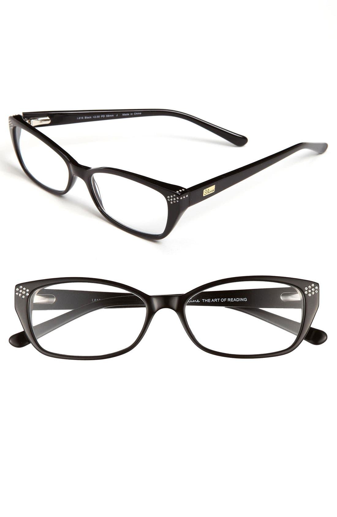 Alternate Image 1 Selected - I Line Eyewear Crystal Reading Glasses