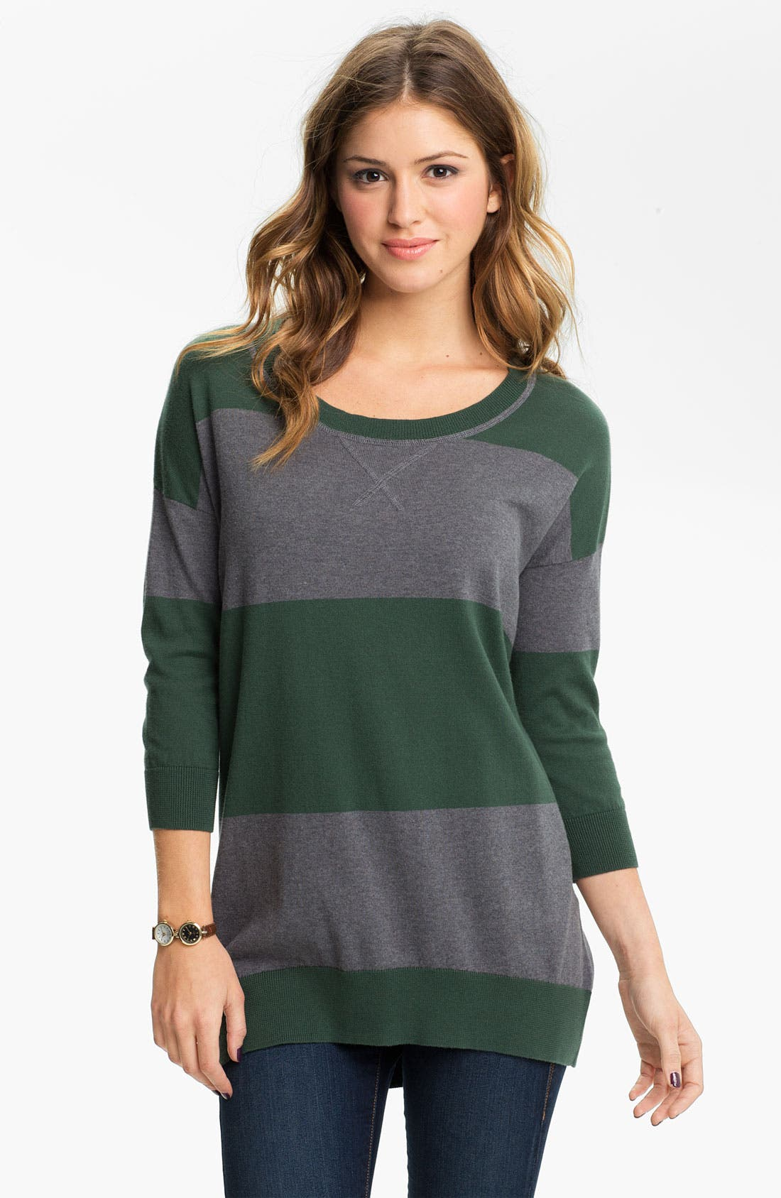 Alternate Image 1 Selected - BP. Rugby Stripe Tunic Sweater (Juniors)