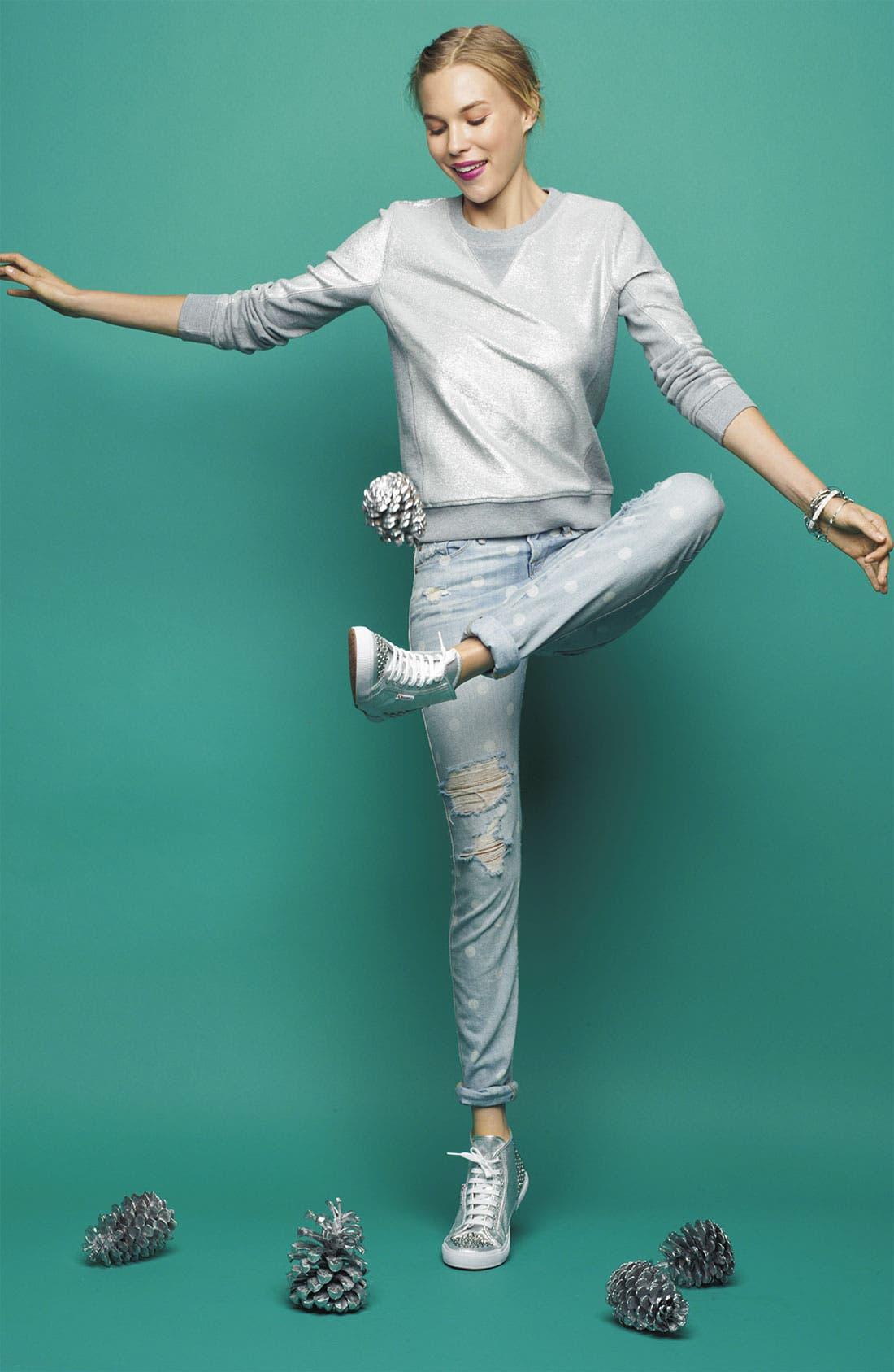 Alternate Image 6  - Superga 'Lamé Studs' Sneaker (Women)