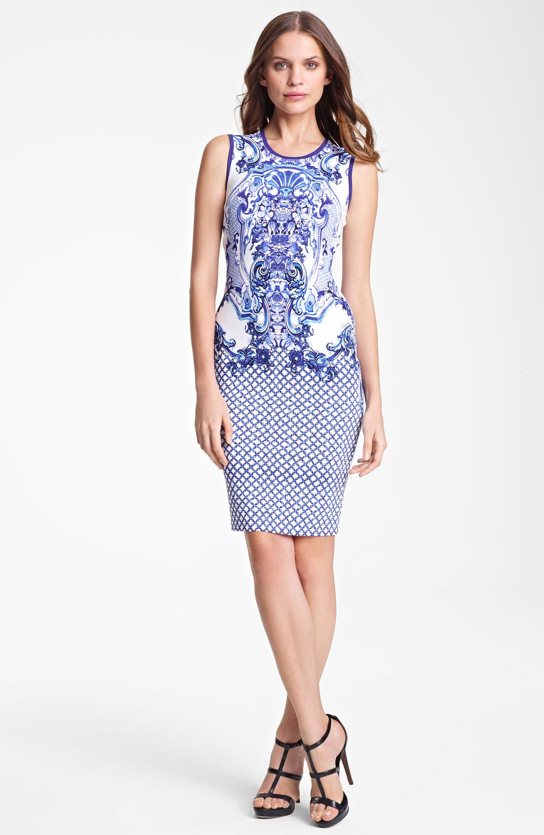 Alternate Image 1 Selected - Roberto Cavalli Print Punto Milano Dress