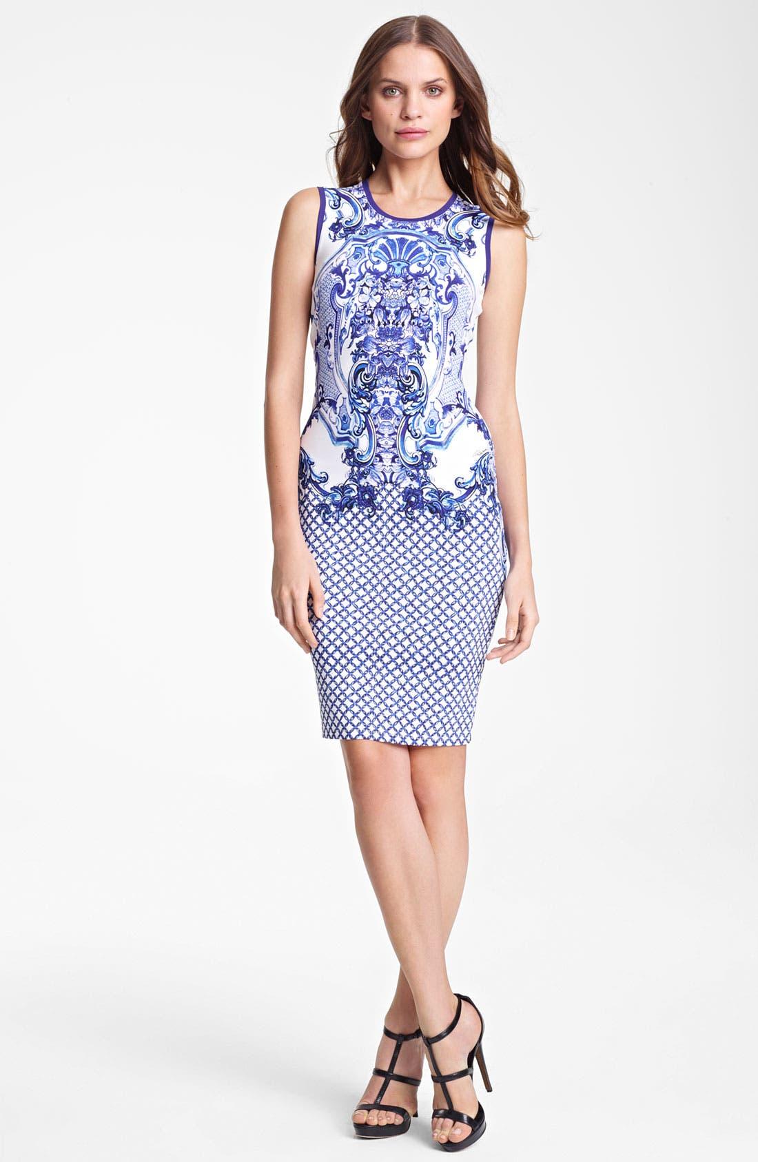 Main Image - Roberto Cavalli Print Punto Milano Dress