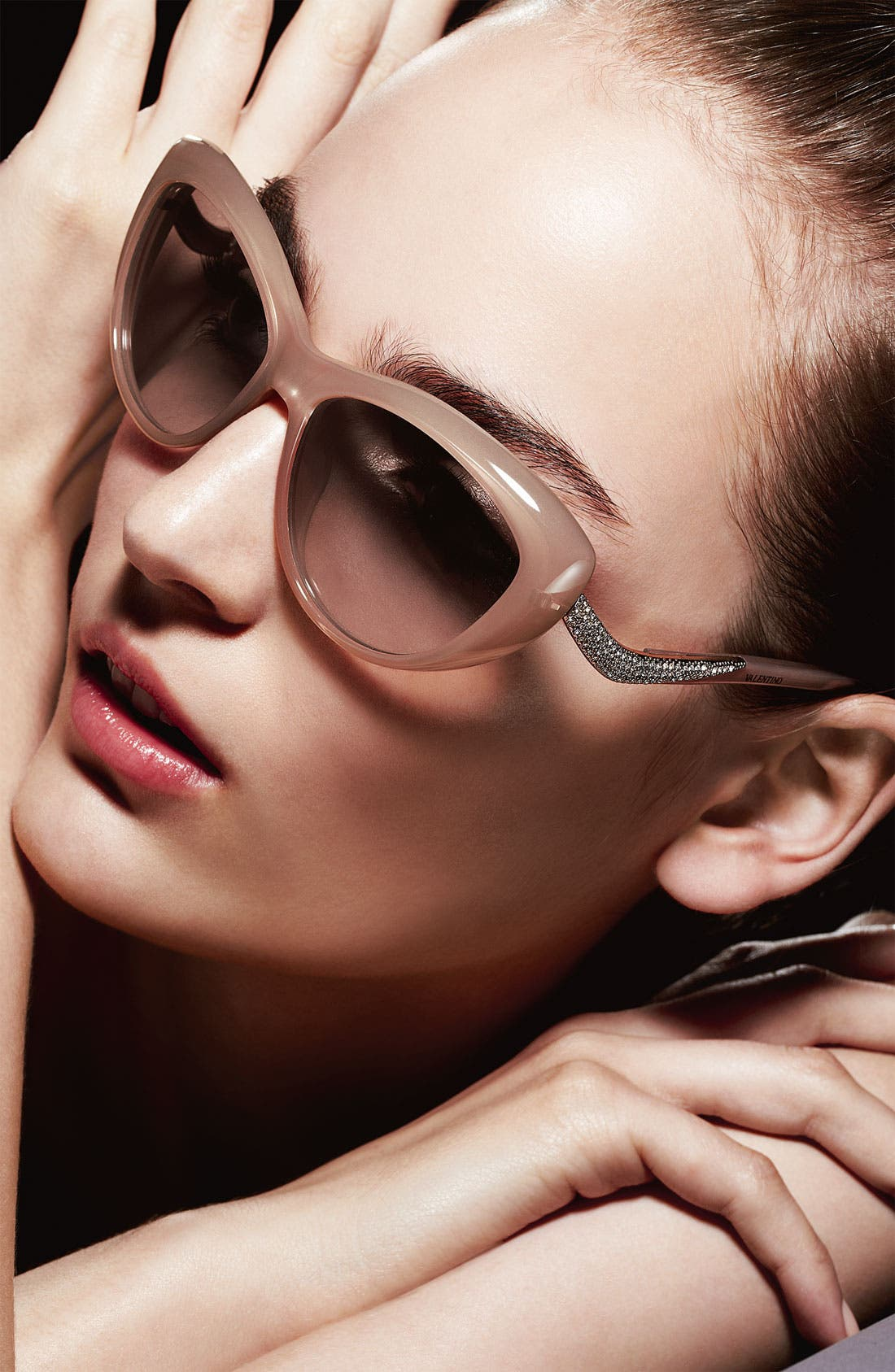 Alternate Image 2  - Valentino 55mm Cat Eye Sunglasses