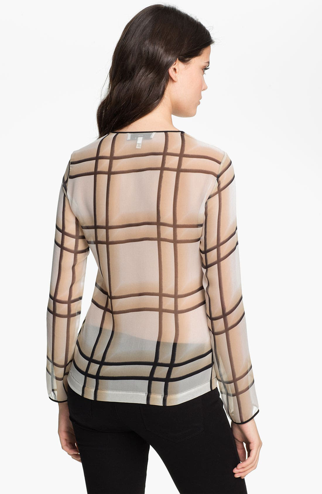Alternate Image 2  - Robert Rodriguez Ombré Plaid Silk Top