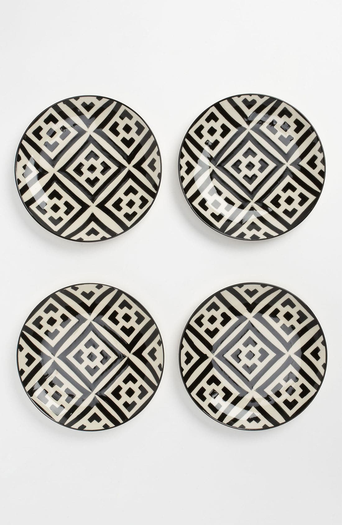 Main Image - Black & White Dessert Plates (Set of 4)