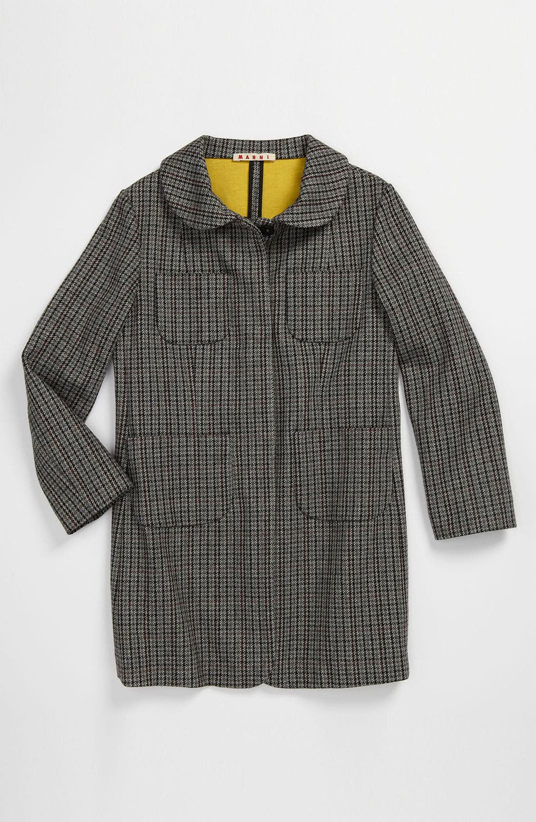 Main Image - Marni Houndstooth Print Coat (Little Girls & Big Girls)