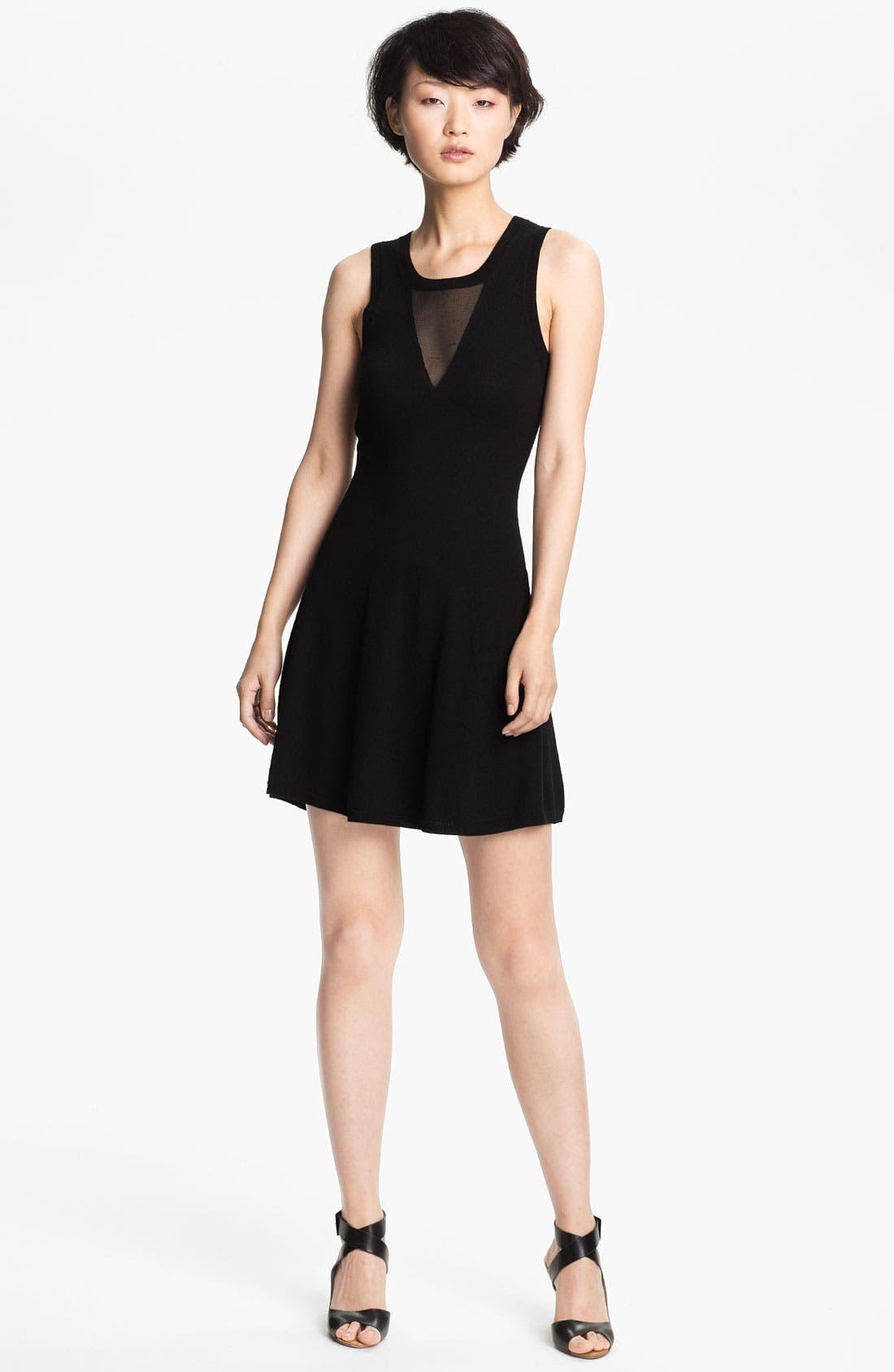 Main Image - 3.1 Phillip Lim Sheer Detail Knit Dress