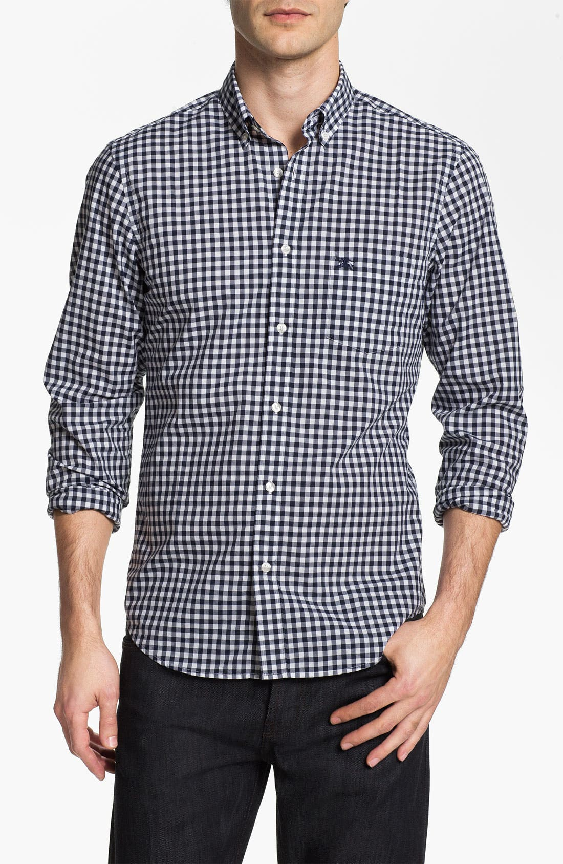 Alternate Image 1 Selected - Burberry Brit Gingham Check Sport Shirt