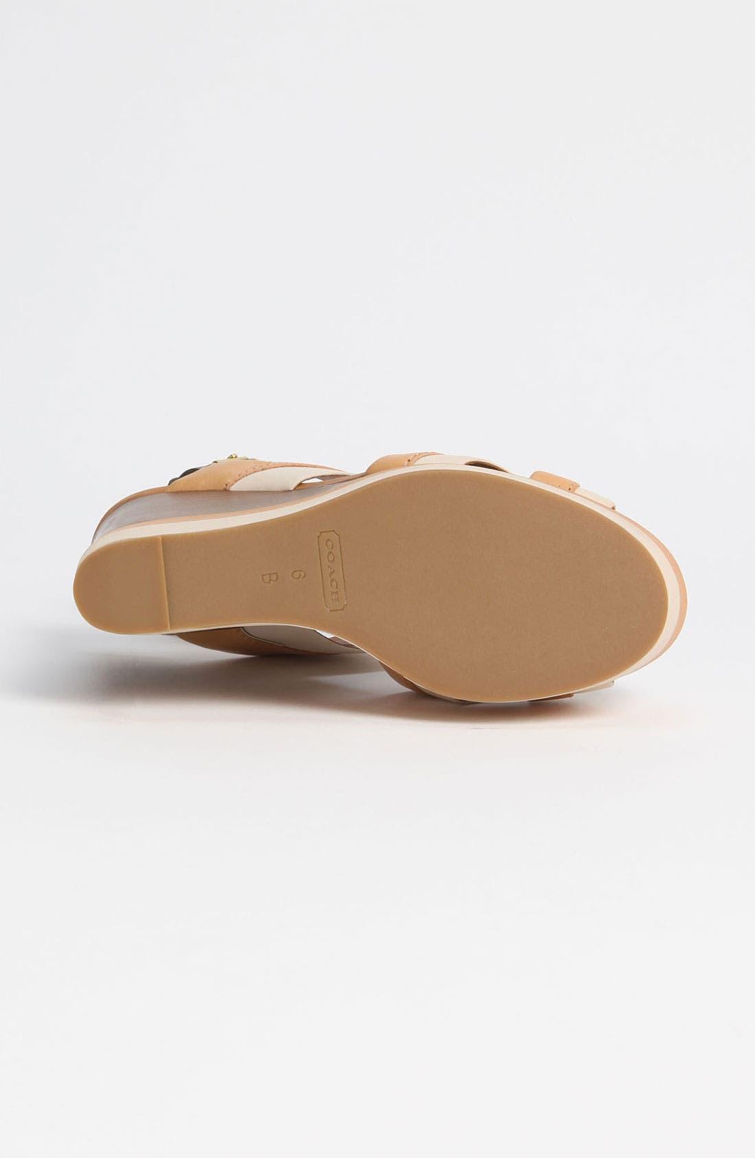 Alternate Image 4  - COACH 'Gaile' Wedge Sandal