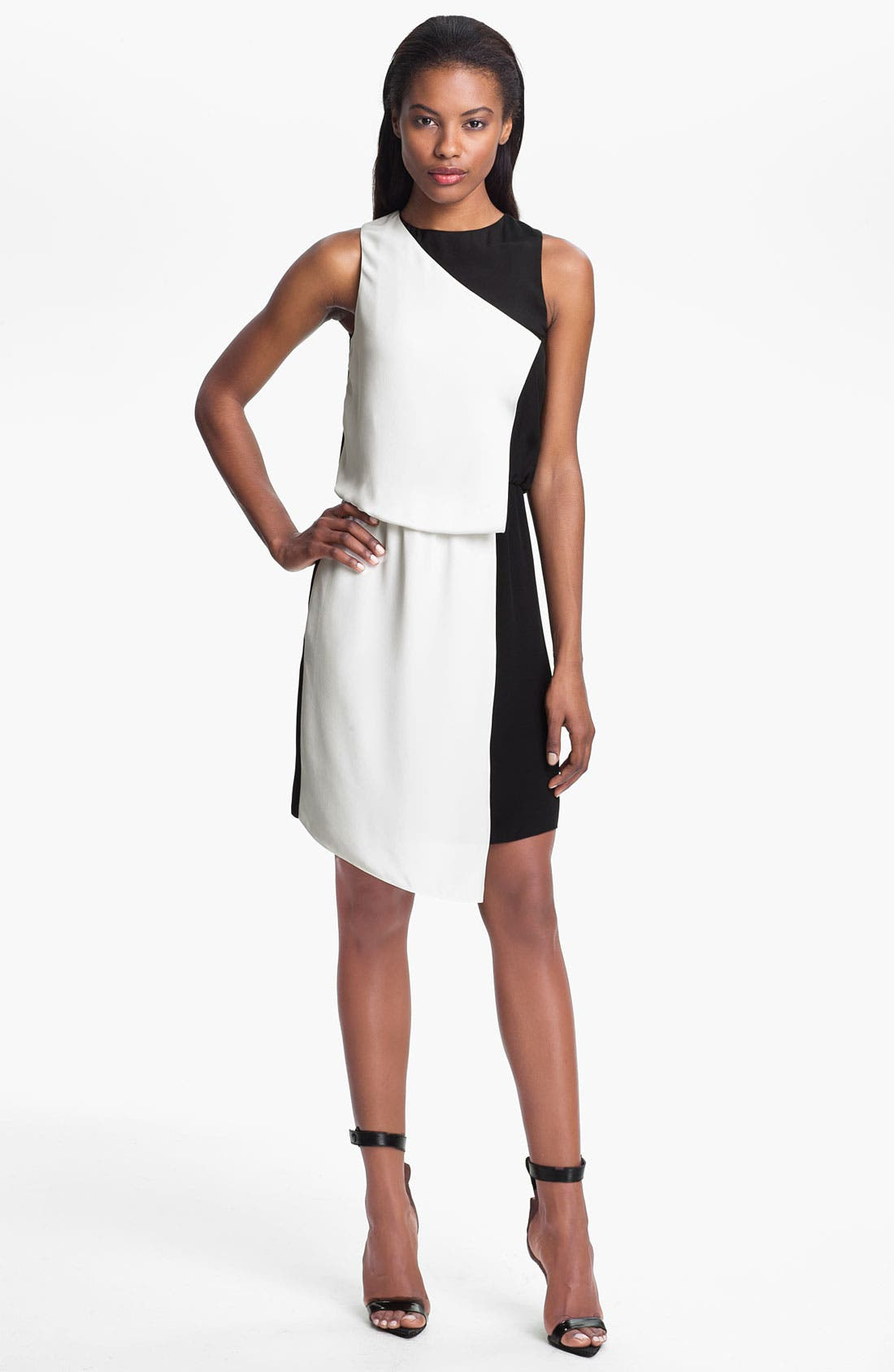 Alternate Image 1 Selected - Tibi Two Tone Silk Dress