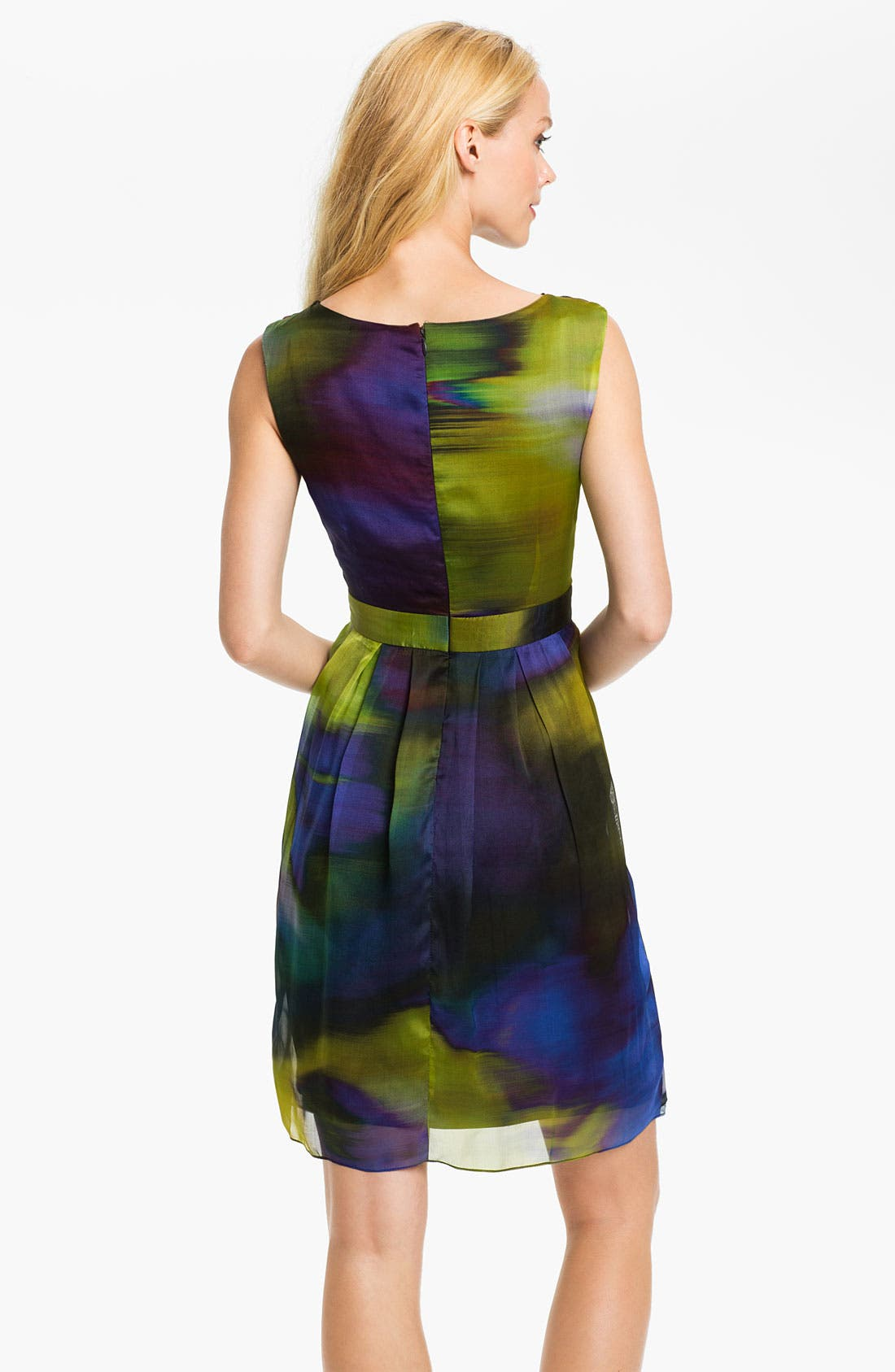 Alternate Image 2  - Suzi Chin for Maggy Boutique Side Drape Print Silk Dress