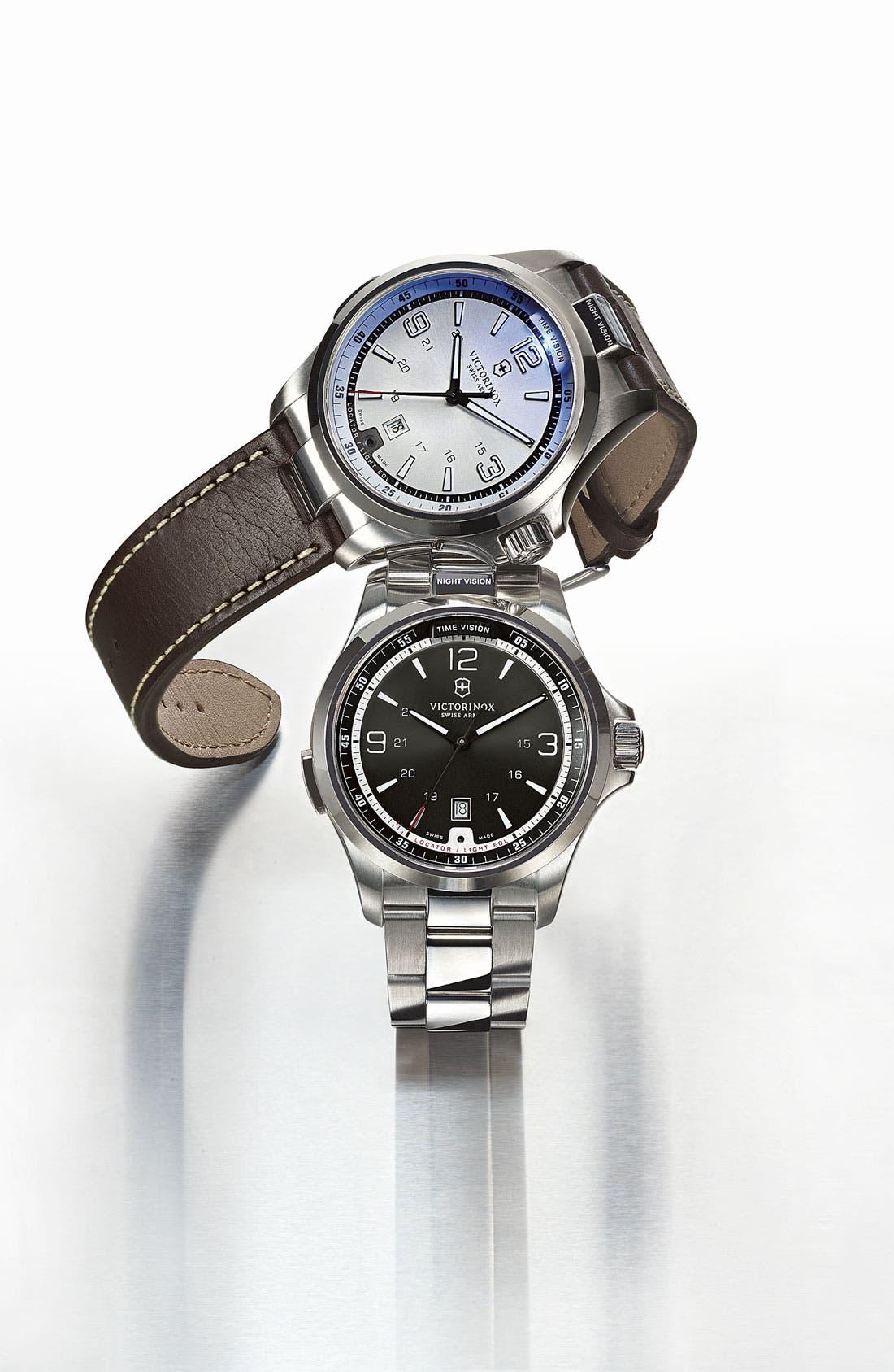 Alternate Image 4  - Victorinox Swiss Army® 'Night Vision' Bracelet Watch, 42mm