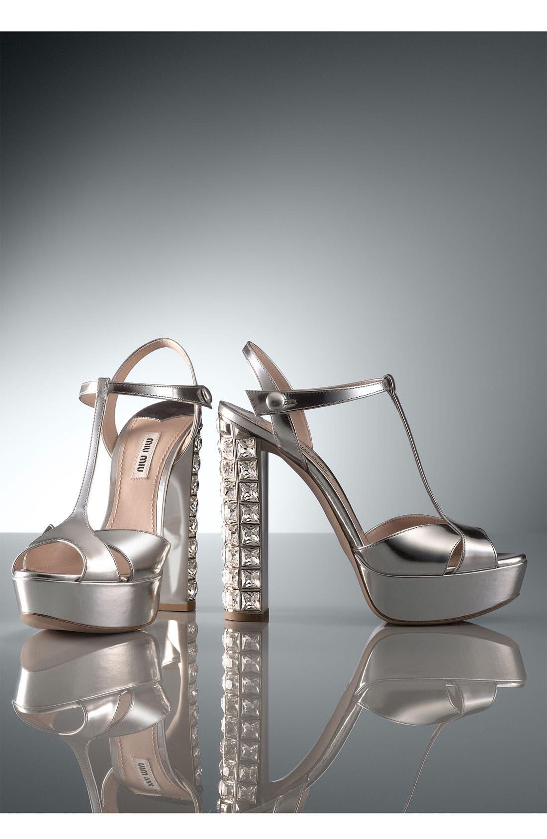 Alternate Image 5  - Miu Miu Crystal Heel Sandal