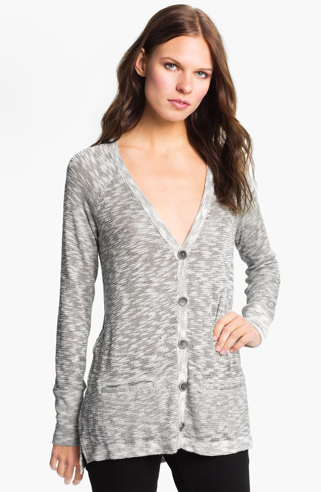 Alternate Image 1 Selected - Soft Joie 'Ambra' Metallic Slub Cardigan