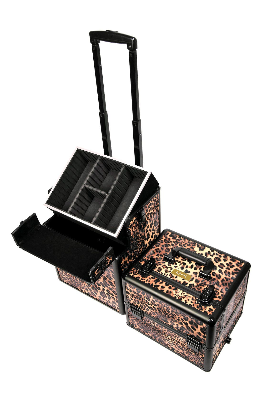 Alternate Image 2  - NYX Leopard Cosmetics Train Case