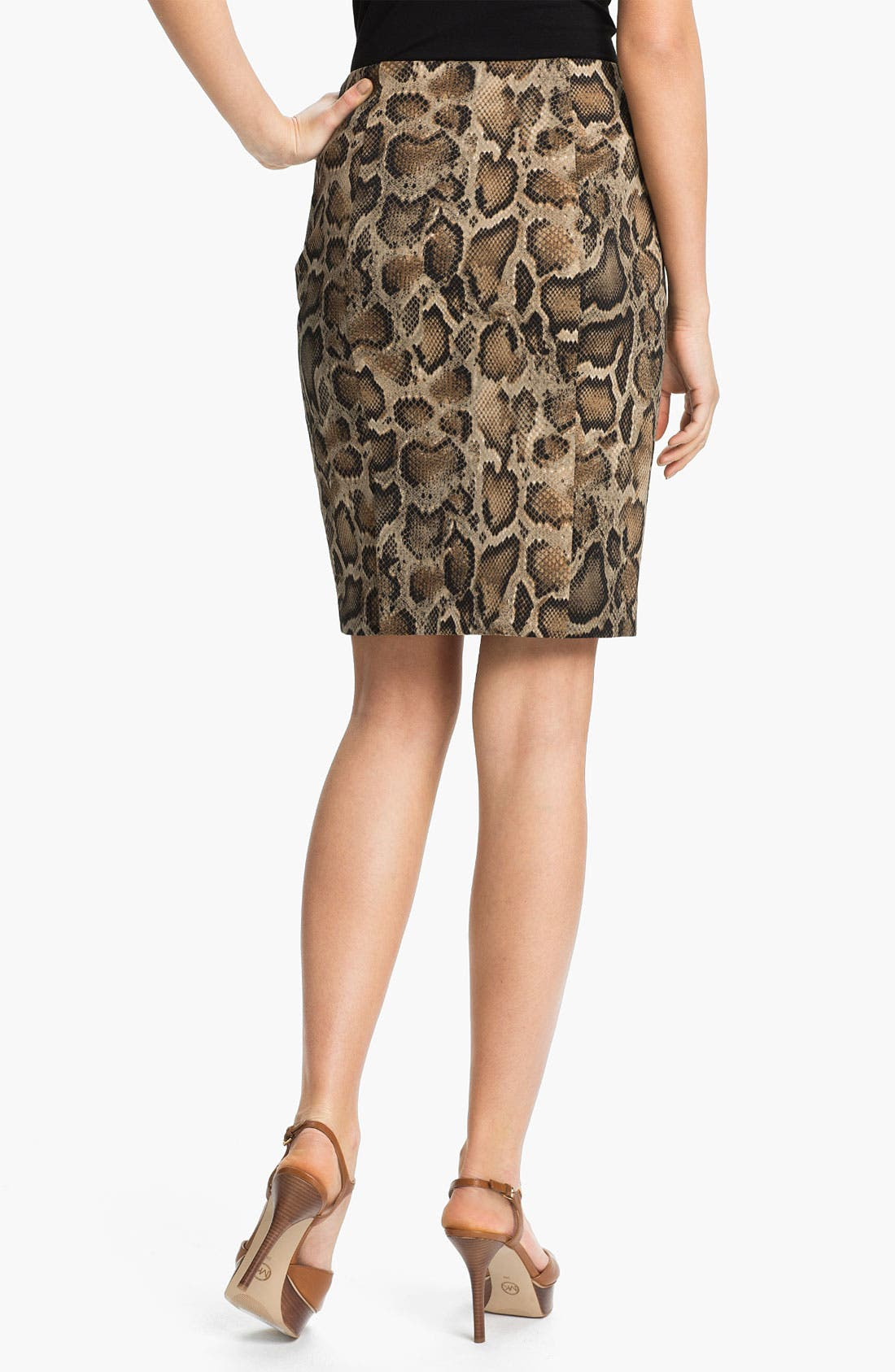 Alternate Image 2  - MICHAEL Michael Kors 'Mamba' Snake Print Pencil Skirt