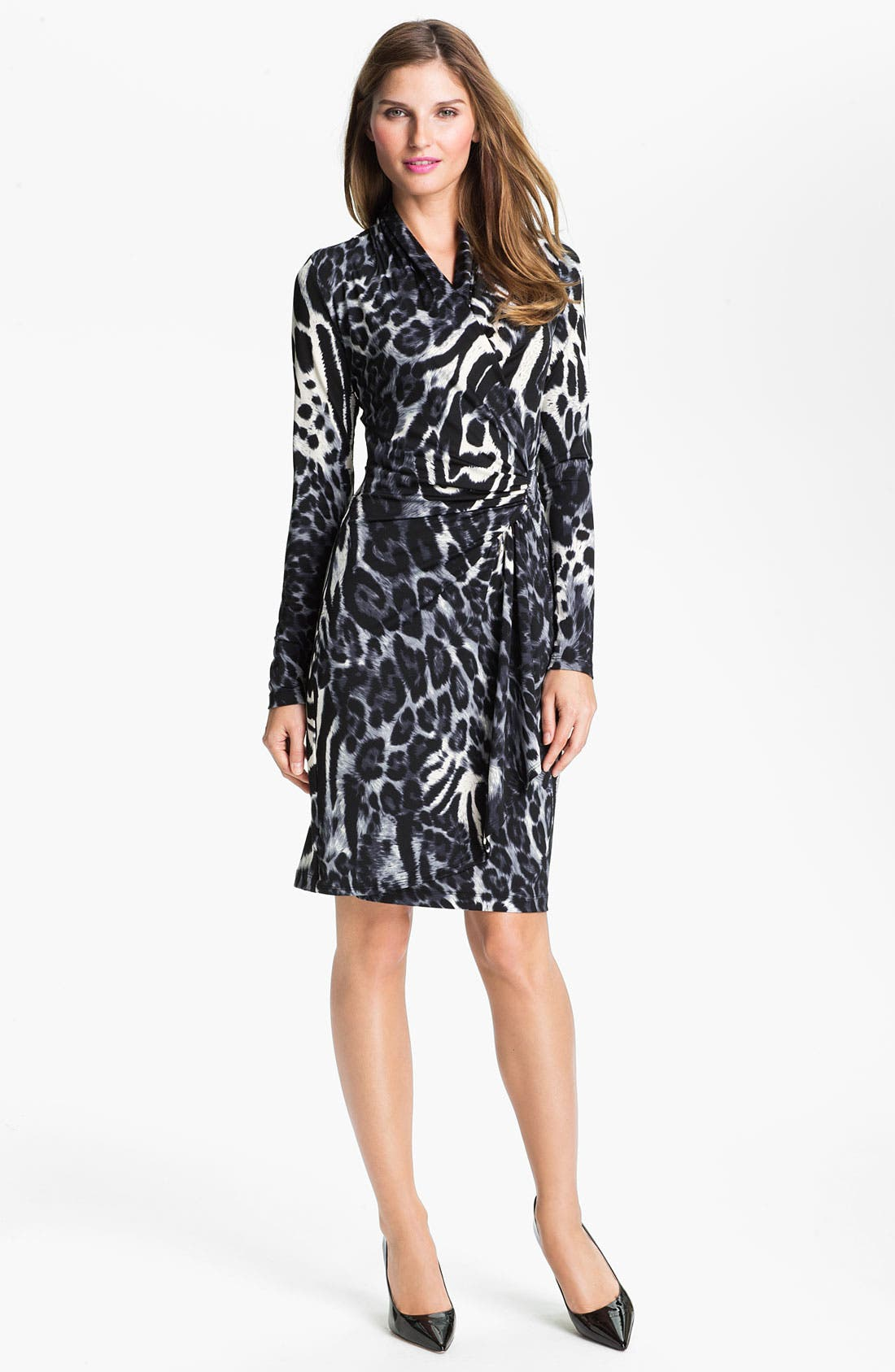 Alternate Image 1 Selected - Karen Kane Faux Wrap Dress (Online Exclusive)
