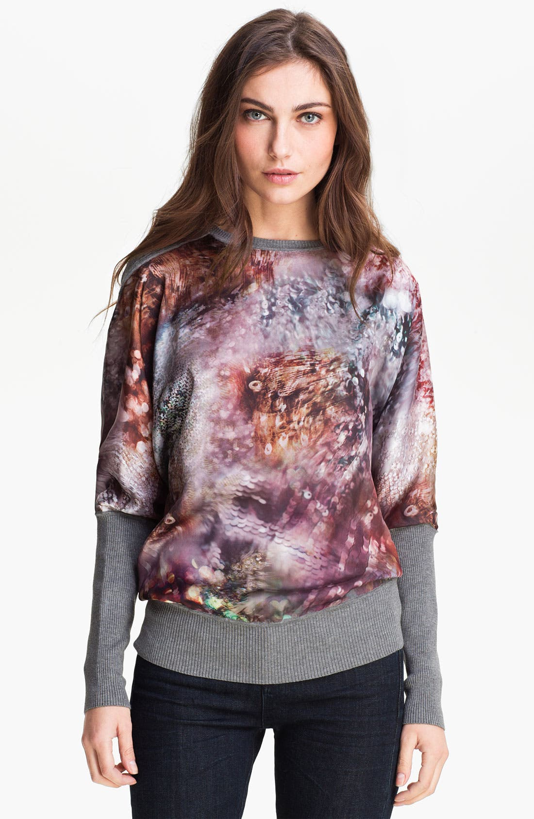 Alternate Image 1 Selected - Ted Baker London Mixed Media Sweater