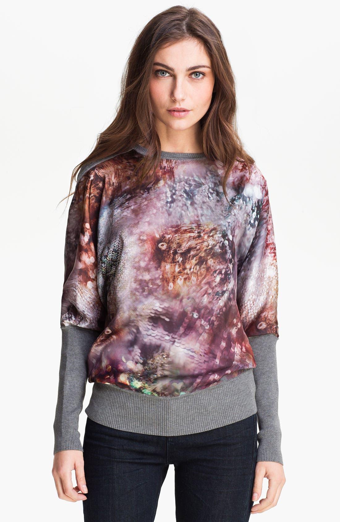 Main Image - Ted Baker London Mixed Media Sweater