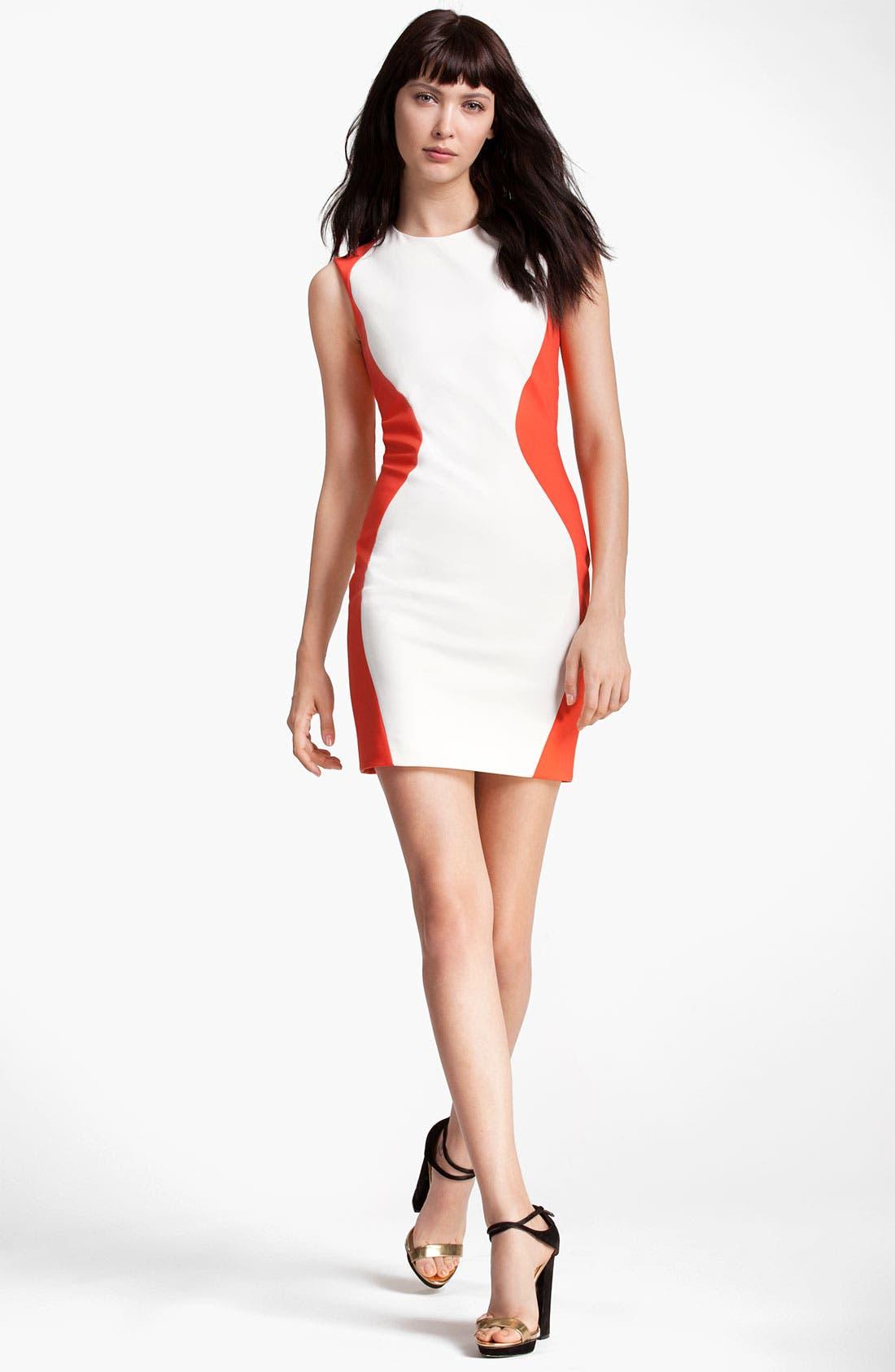 Alternate Image 1 Selected - MSGM Colorblock Sheath Dress