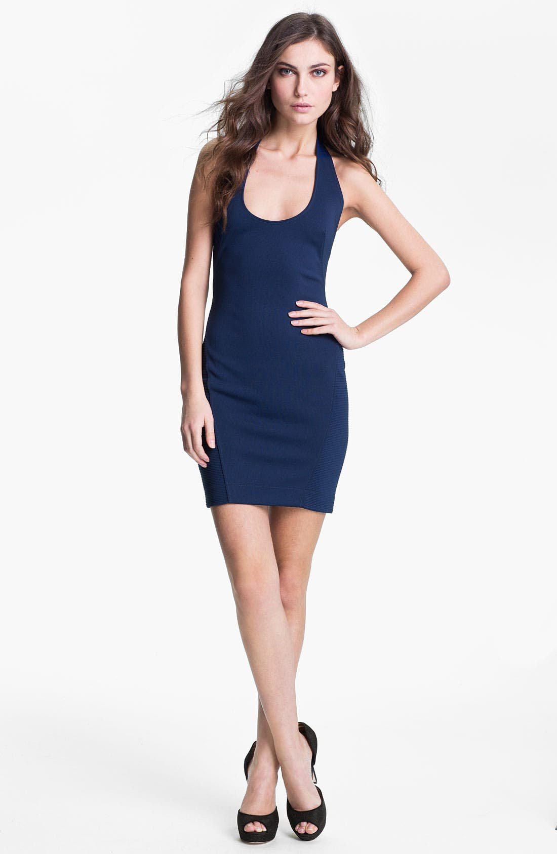 Main Image - French Connection Halter Sheath Minidress