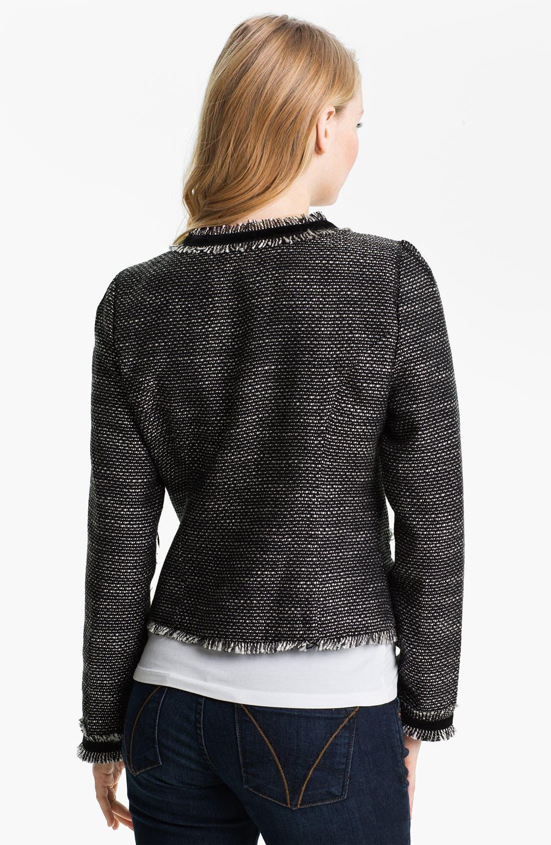 Alternate Image 2  - Max & Mia Open Front Tweed Jacket
