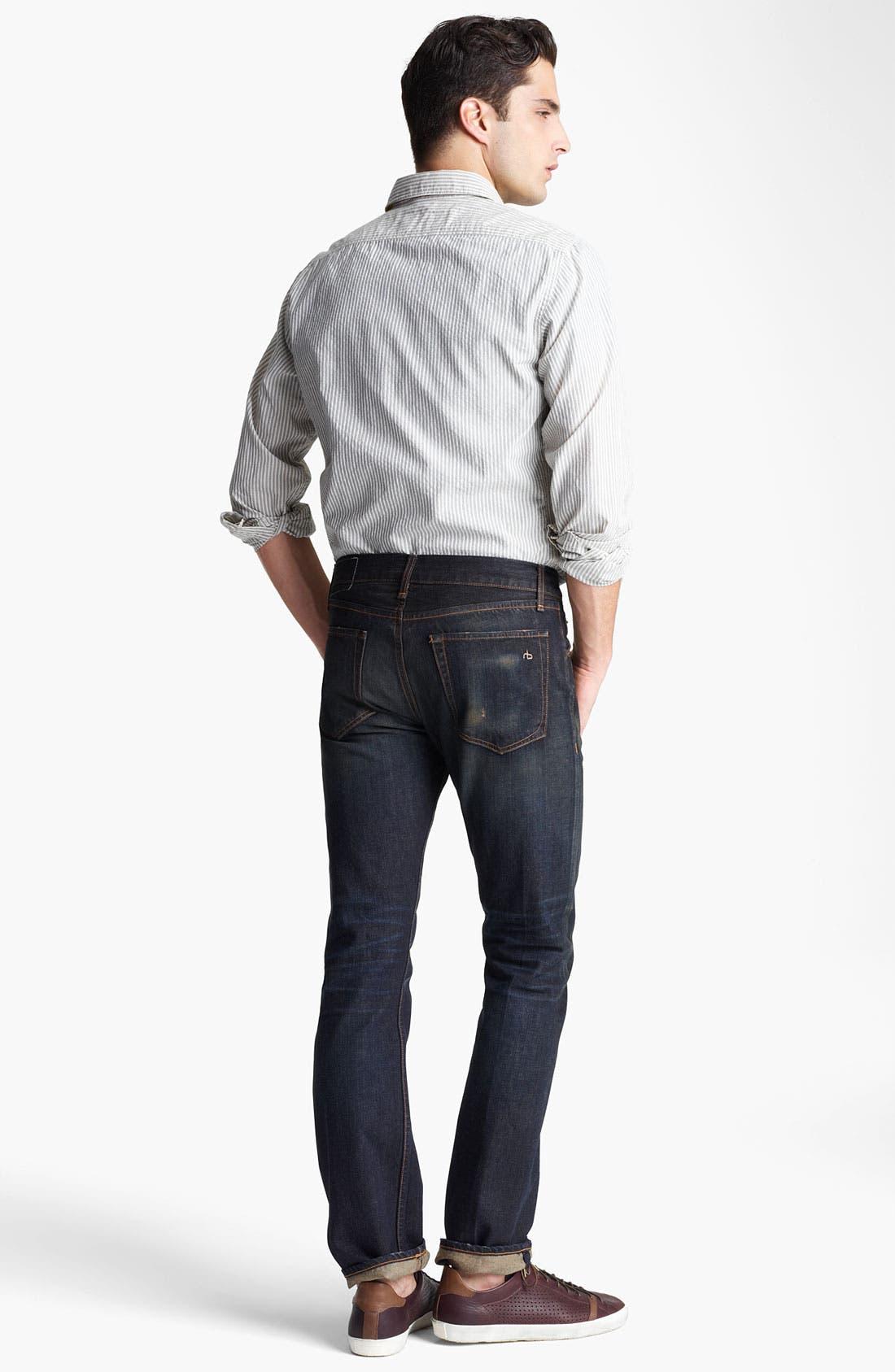 Alternate Image 5  - rag & bone Stripe Woven Shirt