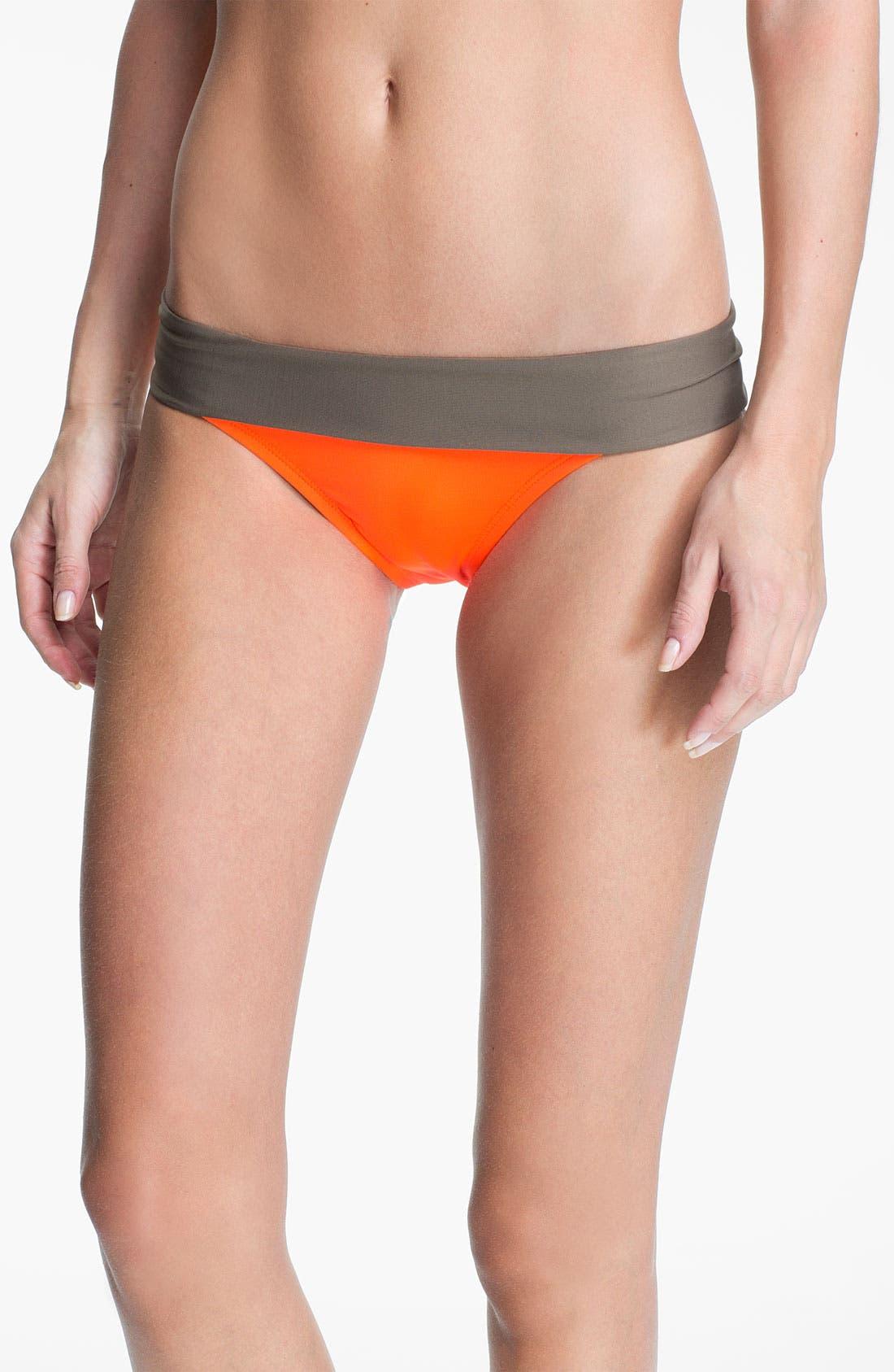 Main Image - Nike 'Bondi' Colorblock Bikini Bottoms