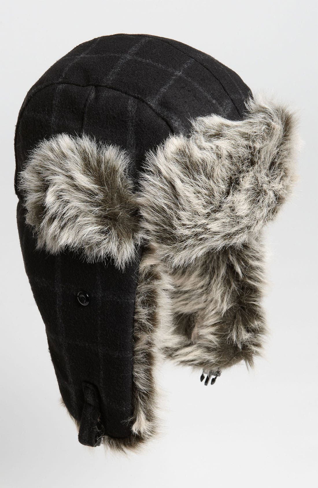 Alternate Image 1 Selected - Free Authority Plaid Faux Fur Trapper Hat