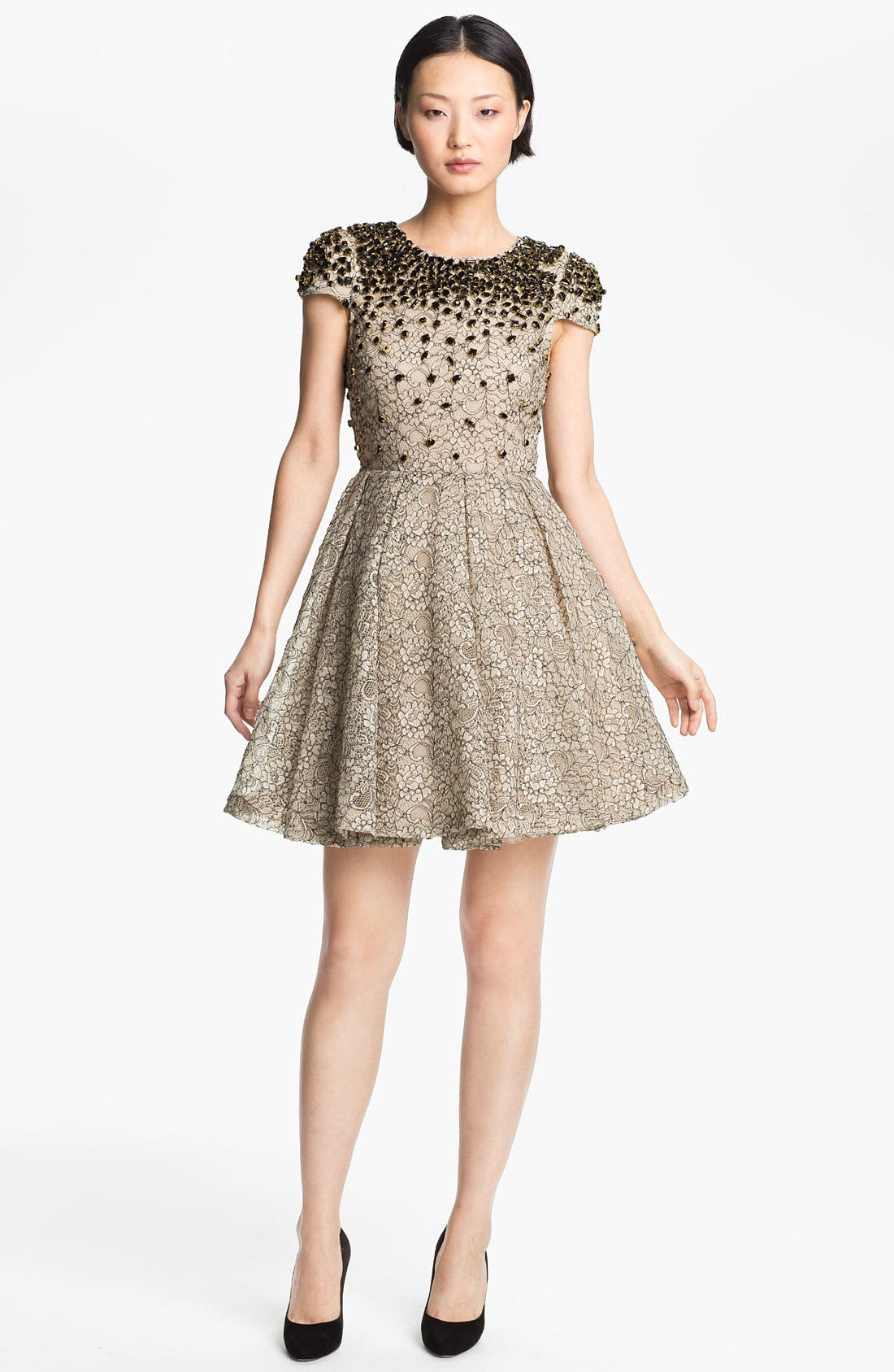 Main Image - Alice + Olivia 'Aubree' Embellished Dress