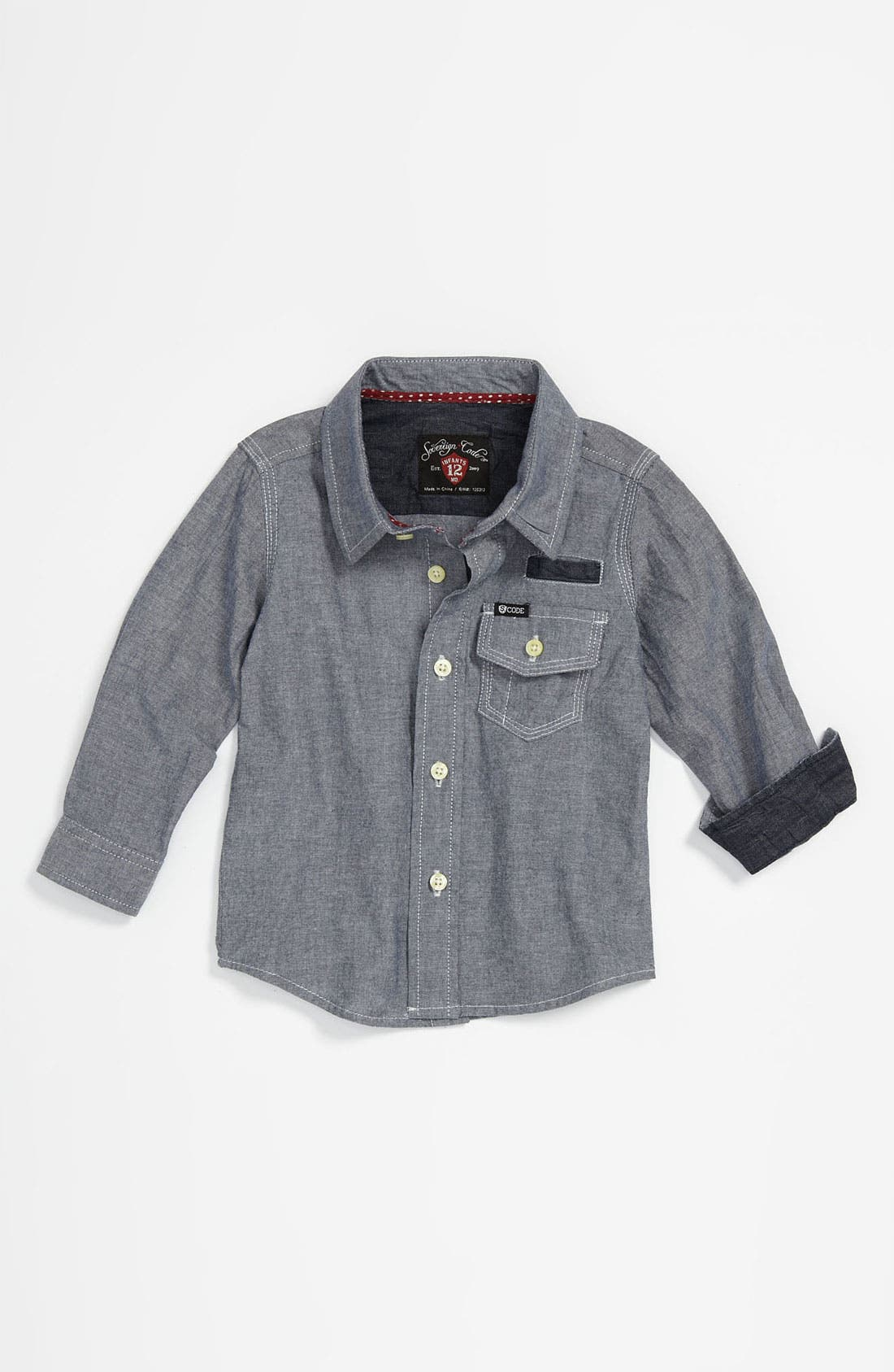 Alternate Image 1 Selected - Sovereign Code 'Paris' Chambray Shirt (Infant)