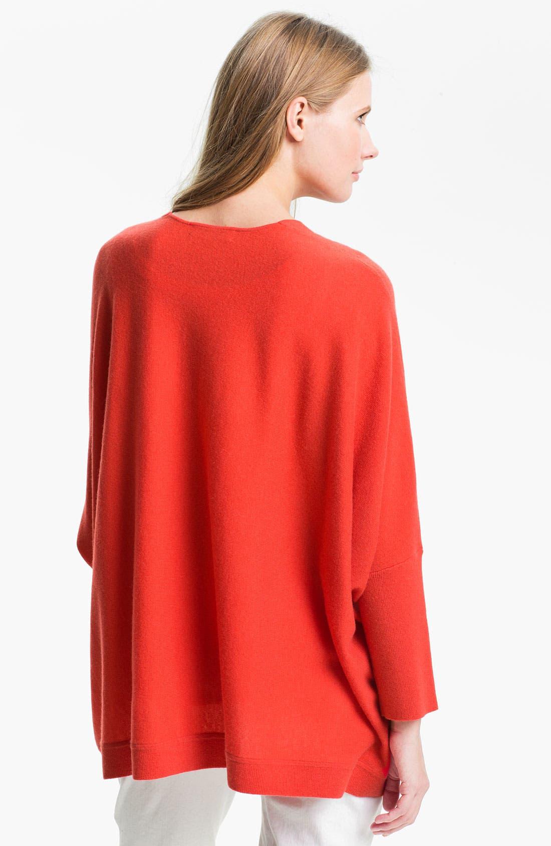 Alternate Image 2  - Nordstrom Collection Oversize Cashmere Cardigan
